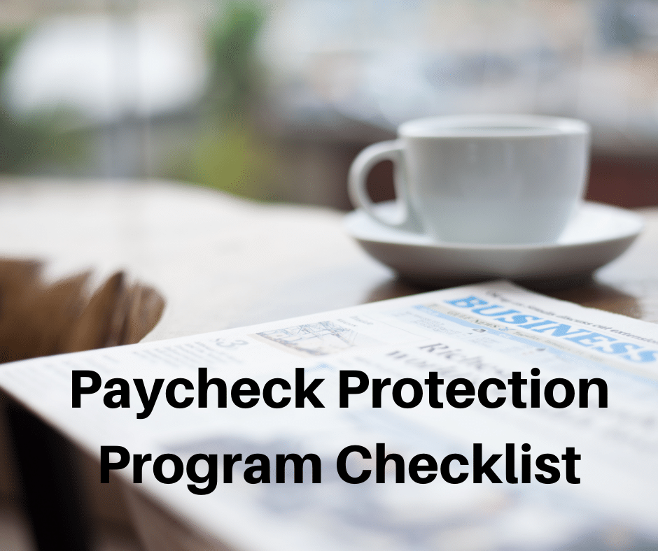 paycheck protection plan checklist ppp